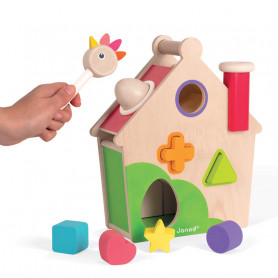 Hen Activity House - Zigolos Wooden Toys