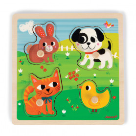 Tactile Puzzle My First Animals (4 pieces)