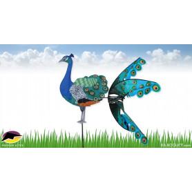 Eolienne oiseau Paon
