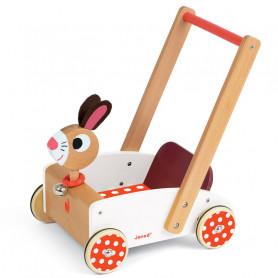 Chariot de marche en bois Crazy Rabbit
