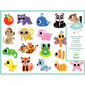 Big stickers for toddles - Baby animals
