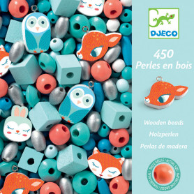 450 Wooden beads - Small animals