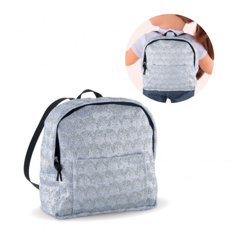 5119f39300e Backpack Silvered For Doll Ma Corolle 36cm