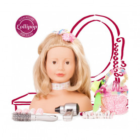 "Styling head Lollipop, 50 pieces, ""Lollipop"" blonde edition"