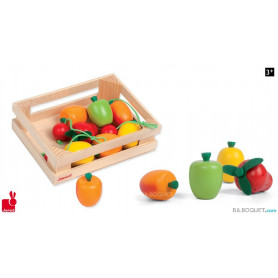 Cagette 12 fruits en bois
