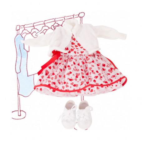 Ensemble Cœurs rouge pour poupées Götz 45-50 cm