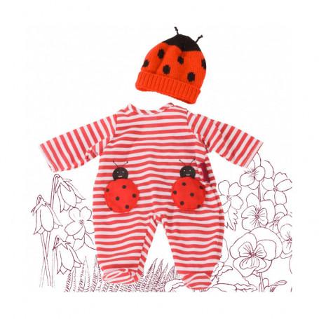 Ensemble Pyjama Coccinelle pour poupées Götz 42-46 cm