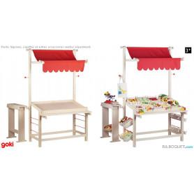 Etal de marché - marchande jouet en bois