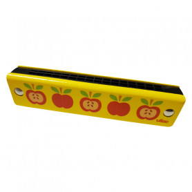 Wooden harmonica - apple motifs