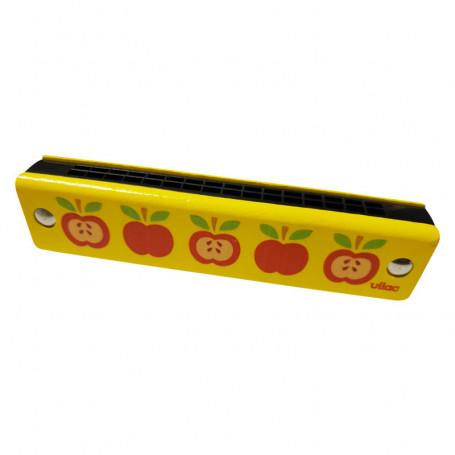 Wooden harmonica - apple motifs