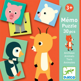 Mémo Animo-puzzle - A picture-matching and memory game