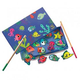 Jeu de pêche aimantée en bois - Fishing Colour