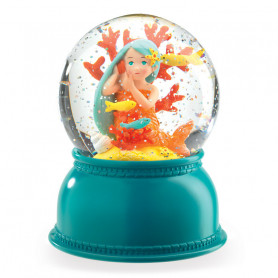 Mermaid Night Light - Snow Globe