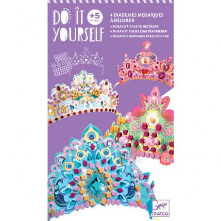 4 mosaics tiaras to decorate - Like a princesse