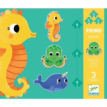 Puzzle Primo Dans la mer - 4/6/9 pièces