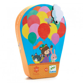 Silhouette Puzzle The hot air balloon 16 pieces