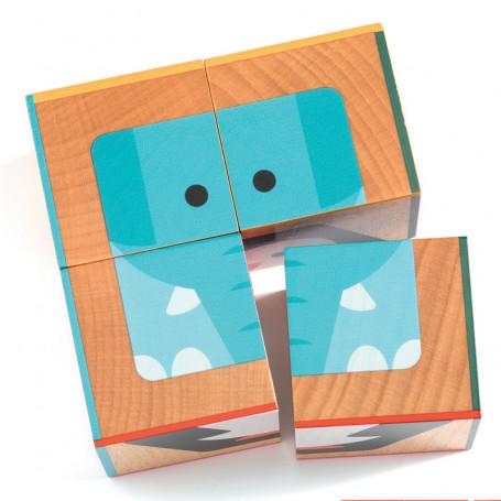 Puzzle-cube en bois Cuba Basic 4 pièces