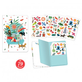 Sarah sticker notebook - Stationery page Djeco