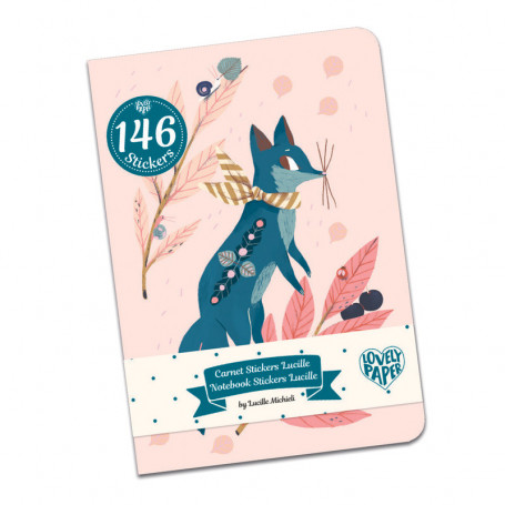 Carnets Stickers Lucille - Papeterie Djeco