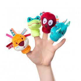 4 marionnettes à doigts