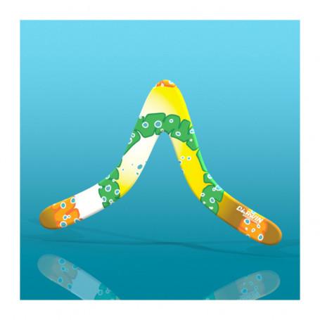 Boomerang Bewoo pour droitier débutant - jaune et vert