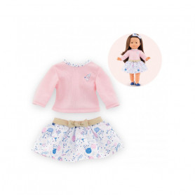 Sweater and skirt set for doll ma Corolle - 40ansCorolle