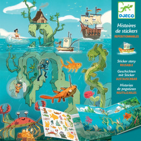 Repositionable Stickers - Adventures sea