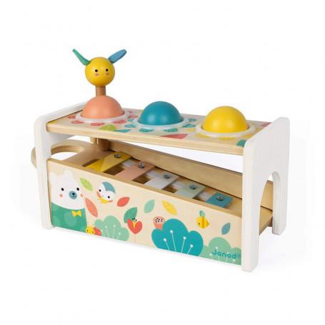 Tap tap xylophone - jouet d'éveil en bois