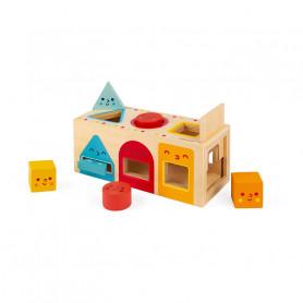 Boîte à Formes Géométriques - jouet d'éveil en bois