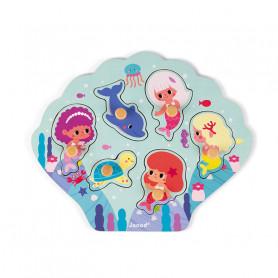 Happy Mermaids Puzzle 6 pieces