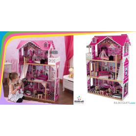 Maison de poupées Amelia (avec mobilier)