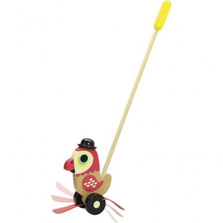 Perroquet à pousser - design par Ingela P.Arrhenius