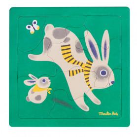 Rabbit puzzle - 10 pieces