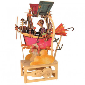 A moving mechanical wooden automata - Junkair