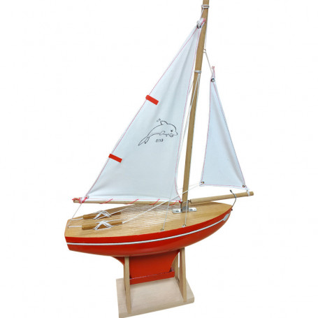 Sailboat 400 - right keel with red hull