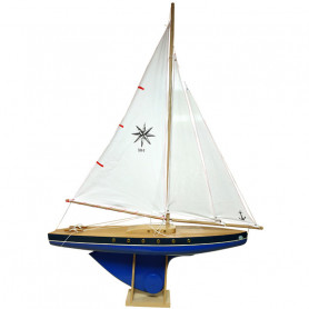 Blue sailing boat 504