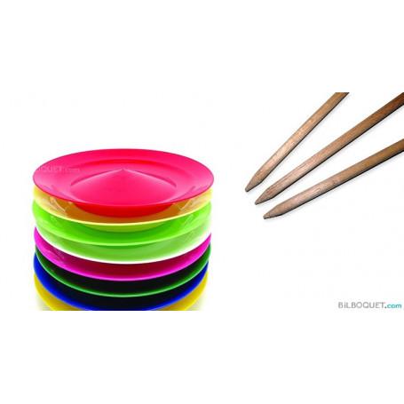 Baguette bois pour assiette à jongler