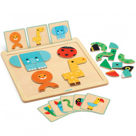 GeoBasic - Magnetic wooden toy
