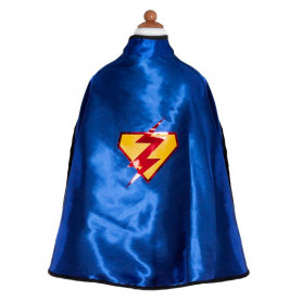 Blue & Red Reversible Superhero Cloak with Mask - Mixed Disguise