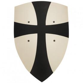 Bouclier Croisé en bois noir & blanc 36x50cm