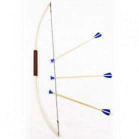 Arc junior avec 3 flèches ventouses bleues