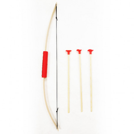 Bow Junior & 3 safety arrows Red