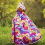 Multicolored Dragon Reversible Cape and Dragon Knight - Child Costume