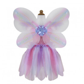 Pink butterfly dress with wings and baguette - disguise girl