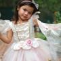Golden Pink Fairy Dress - Girl's Costume