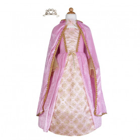 Pink princess dress with cape and crown