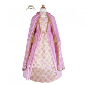 Robe de princesse rose avec cape et couronne