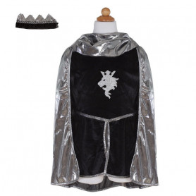 Knight Set (tunic, cape, crown) - Kid Costume