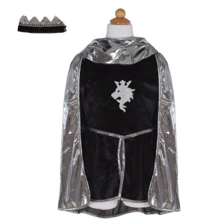Panoplie de chevalier (tunique, cape, couronne) - Déguisement enfant
