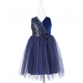 Robe bleu marine Marie-Ine - déguisement fille